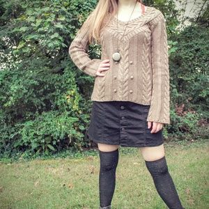 MOCHA CABLE KNIT SWEATER • OLD NAVY